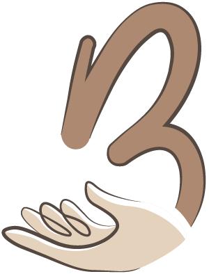 B mit Hand (Logo Carola Brölz)